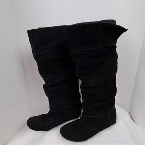 Sam and Libby Black Suede Boots